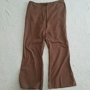 BROWN CHEROKEE WORKWEAR SCRUB PANTS